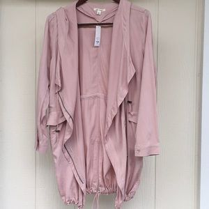 🌸L MIAMI Mauve Rose Blush Cardigan Layering Coat
